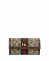 Ophidia GG Continental Wallet - Brown - Gucci Wallets