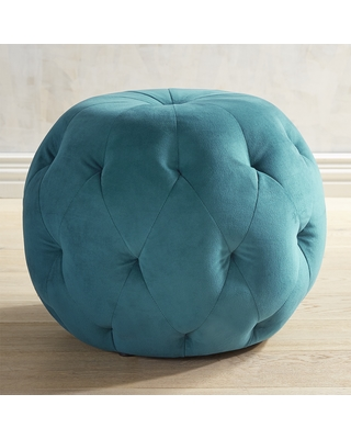 Fabulous Pier 1 Imports Ormand Teal Velvet Tufted Ottoman From Pier 1 Imports Bhg Com Shop Ibusinesslaw Wood Chair Design Ideas Ibusinesslaworg