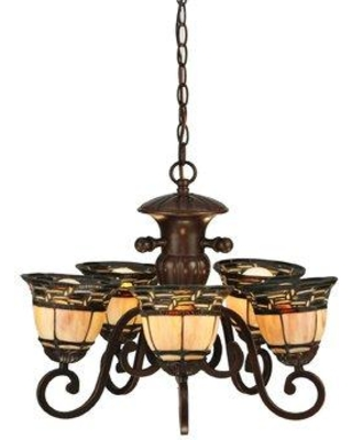 Meyda Tiffany Ilona 5-Light Shaded Chandelier 125117