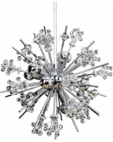 "Constellation Polished Chrome Crystal 19""W 10-Light Pendant"
