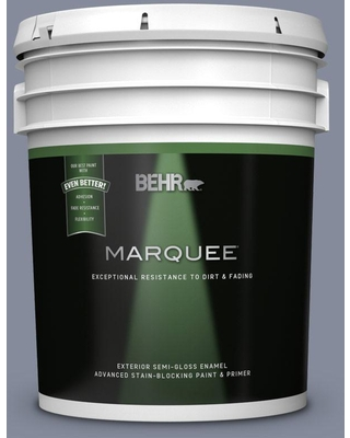 BEHR MARQUEE 5 gal. #MQ5-12 Applause Please Semi-Gloss Enamel Exterior Paint and Primer in One