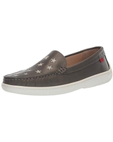 Marc Joseph New York Unisex Leather Driver with Gold Star Detail Loafer, grey nappa, 2.5 M US Little Kid