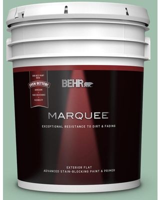 BEHR MARQUEE 5 gal. #MQ6-13 Spring Reflection Flat Exterior Paint and Primer in One