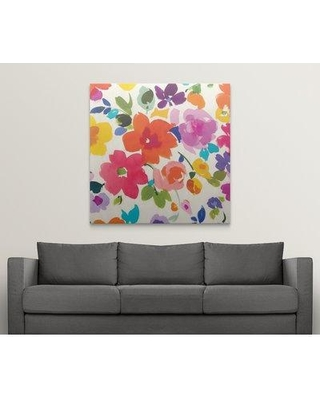 """Great Big Canvas 'Bright Florals II' Painting Print 2219594_1 Size: 48"""" H x 48"""" W x 1.5"""" D Format: Canvas"""