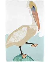Rosecliff Heights Garrick Bird Wave Beach Towel ROHE5476 Color: Taupe
