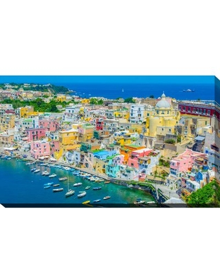 """'Napoli' Painting Print on Wrapped Canvas Picture Perfect International Size: 18"""" H x 30"""" W x 1"""" D"""