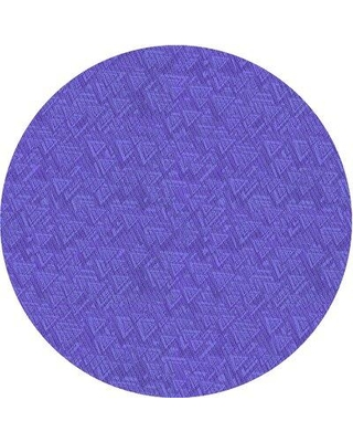 East Urban Home Geometric Wool Violet Area Rug W002569215 Rug Size: Square 3'