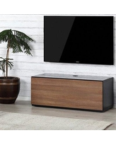 "Orren Ellis Langella TV Stand for TVs up to 50"" PSFM3714 Color: Walnut/Black"