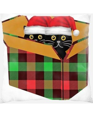 The Holiday Aisle Renard Cat Indoor/Outdoor Canvas Throw Pillow X111824434