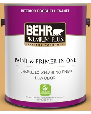 BEHR Premium Plus 1 gal. #320D-5 Sweet Maple Eggshell Enamel Low Odor Interior Paint and Primer in One