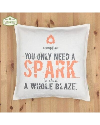 Peterborough Home Spark Cotton Throw Pillow CQ1818JS04OF Fill Material: Polyester/Polyfill