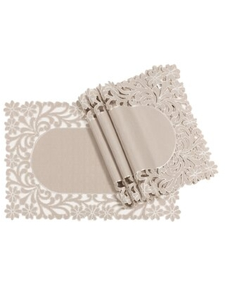 """Florence Floral Cutwork Trimmed Edge 20"""" Placemat Xia Home Fashions"""