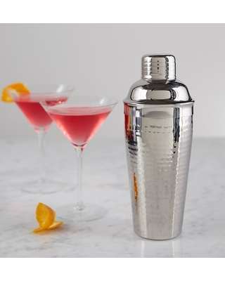 Stainless-Steel Hammered Cocktail Shaker
