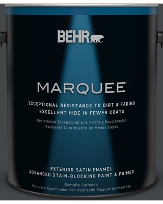 Can T Miss Deals On Behr Marquee 1 Gal Ppu24 23 Little Black Dress Satin Enamel Exterior Paint And Primer In One