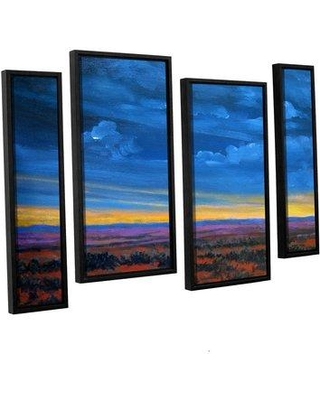 """ArtWall 'Shadow Moses' by Gene Foust 4 Piece Framed Painting Print on Canvas Set JJM8498 Size: 36"""" H x 54"""" W x 2"""" D"""