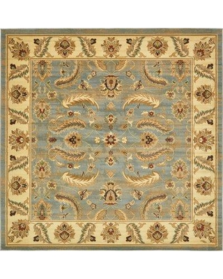 Three Posts™ Fairmount Oriental Yellow/Blue Area Rug UISF0681 Rug Size: Square 10'