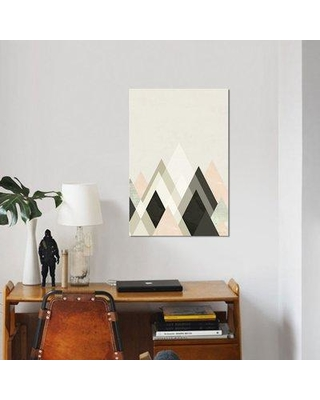 """East Urban Home 'Mountains Beyond Mountains III' Graphic Art Print on Canvas UBHM8785 Size: 26"""" H x 18"""" W x 0.75"""" D"""