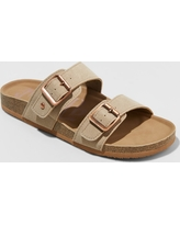 Women's Mad Love Keava Footbed Sandal - Taupe (Brown) 6