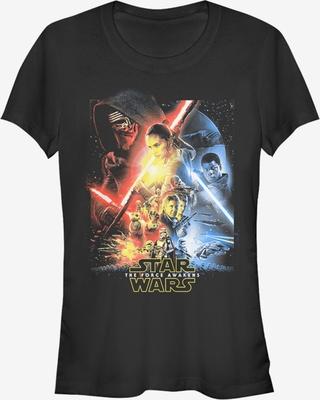 Star Wars Episode VII The Force Awakens Cool Poster Girls T-Shirt
