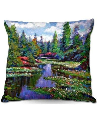 """East Urban Home Couch Waterlily Lake Reflections Throw Pillow X111060810 Size: 18"""" x 18"""""""