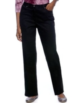 Ruby Rd Black Classic Elastic Side Jeans