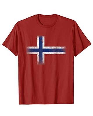 Vintage Norway Norwegian Flag Norge Gift T-Shirt