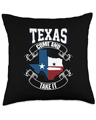 Texas Come and Take It Cannon Texas Revolution Gonzales Flag Throw Pillow
