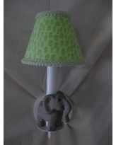 Silly Bear African Plains Safari 1-Light Candle Wall Light WS05-017 Shade: Jungle Luv