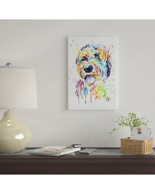 """'Doodle Of A Doodle' By Lisa Whitehouse Graphic Art Print on Canvas East Urban Home Size: 18"""" H x 12"""" W x 0.75"""" D"""