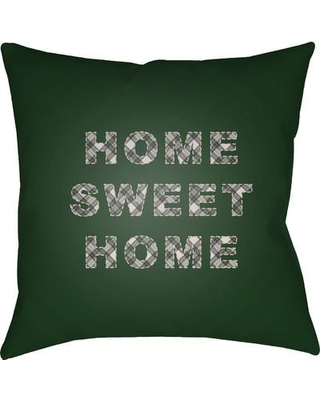 """Loon Peak Beaird Indoor Outdoor Throw Pillow LOON2178 Size: 20"""" H x 20"""" W x 4"""" D Color: Green/Neutral/Blue/Yellow"""