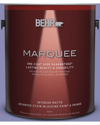 BEHR MARQUEE 1 gal. #M550-5 Violet Aura One-Coat Hide Matte Interior Paint and Primer in One