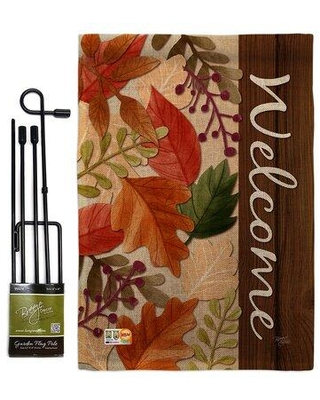 Shop For Breeze Decor Autumn Leaves Fall Harvest Impressions 2 Sided Burlap 19 X 13 In Flag Set In Red Brown Wayfair Bd Ha Gs 113082 Ip Db D Us18 Bd