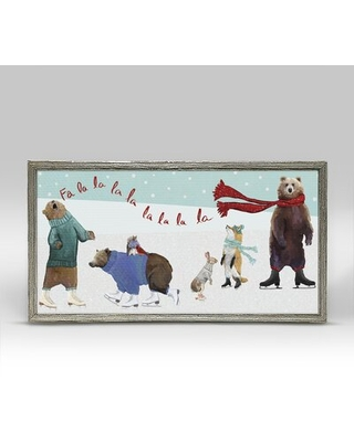 New Savings On Woodland Skaters By Cathy Walters Picture Frame Painting Print On Canvas The Holiday Aisle