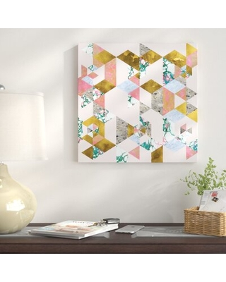"""'Geometry of Love' - Wrapped Canvas Graphic Art Print East Urban Home Size: 12"""" H x 12"""" W x 0.75"""" D"""