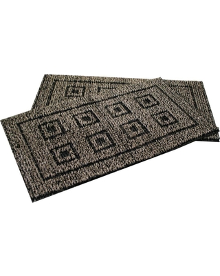 Clean Machine Flair Black Forest 20 in. x 36 in. AstroTurf Door Mat (2-Pack), Browns/Tans