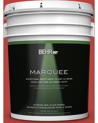 BEHR MARQUEE 5 gal. #P160-7 Stiletto Love Semi-Gloss Enamel Exterior Paint and Primer in One