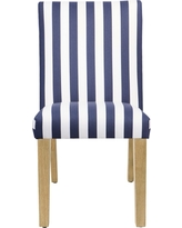 Hendrix Dining Chair - Canopy Stripe Black and White - Canopy Stripe Black and White - Skyline Furniture