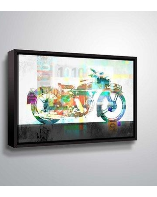 """East Urban Home 'MotoMatch' Framed Graphic Art Print on Canvas W000858927 Size: 16"""" H x 24"""" W x 2"""" D Format: Floater Frame"""