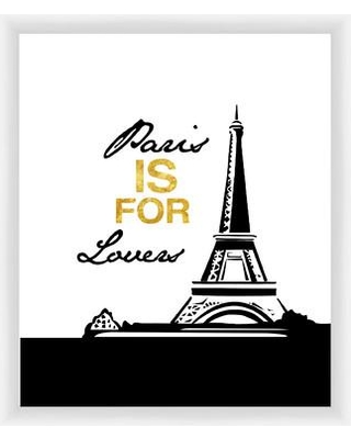 PTM Images Paris Is for Lovers Giclée Framed Graphic Art in Gold 1-19919