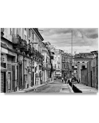 "Trademark Fine Art 'Street Scene in Havana Centro II' Photographic Print on Wrapped Canvas PH00788-C Size: 16"" H x 24"" W"