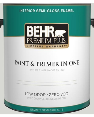 BEHR Premium Plus 1 gal. #T17-01 Close Knit Semi-Gloss Enamel Low Odor Interior Paint and Primer in One