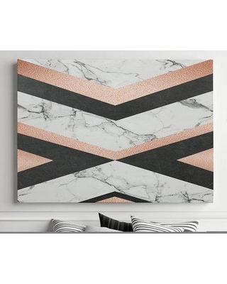 "Mercer41 'Geo Glam' Graphic Art Print on Canvas BF182418 Size: 35"" H x 37"" W x 1.5"" D"