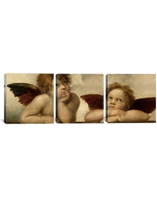 """iCanvas Raphael The Two Angels 3 Piece Painting Print on Wrapped Canvas Set 1396PAN-3PC Size: 30"""" H x 90"""" W x 1.5"""" D"""