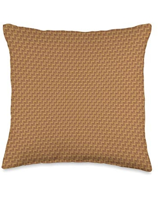 Pattern Pillow Store Light Orange Yellowish Brown Tweed Pattern Decor Throw Pillow, 16x16, Multicolor