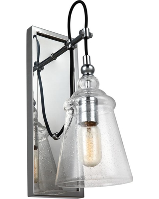 Feiss Loras 1-Light Chrome Wall Sconce