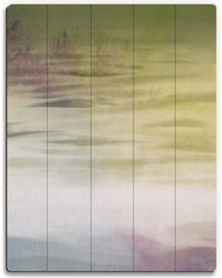 """Click Wall Art Olive Shore Painting Print on Plaque ABS0011475PLK Size: 30"""" H x 20"""" W x 1"""" D"""