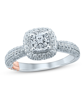 Jared The Galleria Of Jewelry Pnina Tornai Until The End Of Time Diamond Engagement Ring 1-1/4 ct tw Cushion/Round 14K Two-Tone Gold
