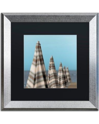 """Trademark Art 'Grossetto Parasol III' Framed Photographic Print ALI5223-S1 Mat Color: Black Size: 16"""" H x 16"""" W x 0.5"""" D"""