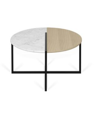 Sonata Collection 9003629228 Coffee Table in White Marble and Light Oak