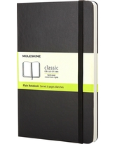 Moleskine Unlined Journal Large - Black Hardcover